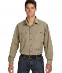 Dri Duck Men's Long-Sleeve Brick Workshirt Rope