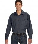 Dri Duck Men's Long-Sleeve Brick Workshirt Steel