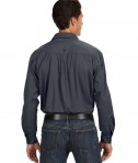 Dri Duck Men's Long-Sleeve Brick Workshirt Back