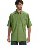 Dri Duck Men's Short-Sleeve Catch Fishing Shirt Sky Grass