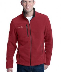 Eddie Bauer - Full-Zip Fleece Jacket Style EB200 Red Rhubarb