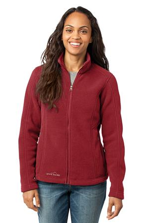 Eddie Bauer - Ladies Full-Zip Fleece Jacket Style EB201 Red Rhubarb