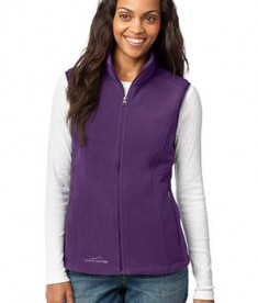 Eddie Bauer - Ladies Fleece Vest Style EB205 Blackberry