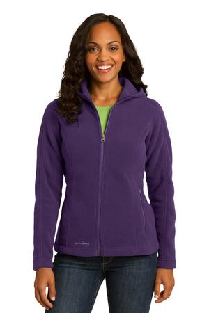 Eddie Bauer Ladies Hooded Full-Zip Fleece Jacket Style EB206 Blackberry