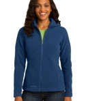Eddie Bauer Ladies Hooded Full-Zip Fleece Jacket Style EB206 Deep Sea Blue