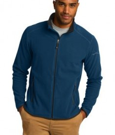 Eddie Bauer Full-Zip Vertical Fleece Jacket Style EB222 Deep Sea Blue