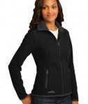 Eddie Bauer Ladies Full-Zip Vertical Fleece Jacket Style EB223 Black Angle