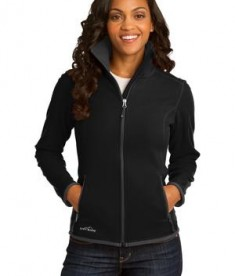 Eddie Bauer Ladies Full-Zip Vertical Fleece Jacket Style EB223 Black