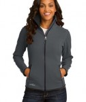 Eddie Bauer Ladies Full-Zip Vertical Fleece Jacket Style EB223 Iron Gate
