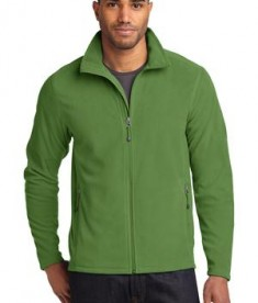 Eddie Bauer Full-Zip Microfleece Jacket Style EB224 Irish Green
