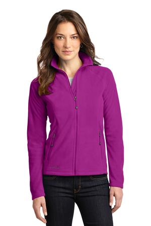 Eddie Bauer Ladies Full-Zip Microfleece Jacket Style EB225 Deep Magenta