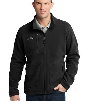 Eddie Bauer – Wind Resistant Full-Zip Fleece Jacket Style EB230 Black