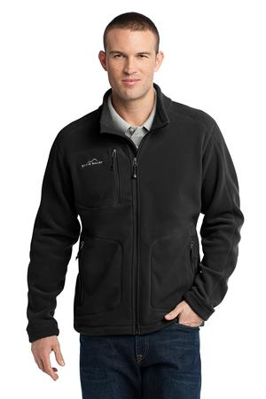 Eddie Bauer - Wind Resistant Full-Zip Fleece Jacket Style EB230 Black