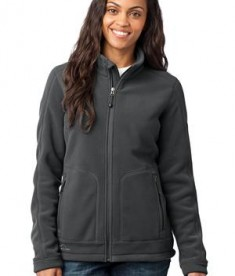 Eddie Bauer - Ladies Wind Resistant Full-Zip Fleece Jacket Style EB231 Iron Gate