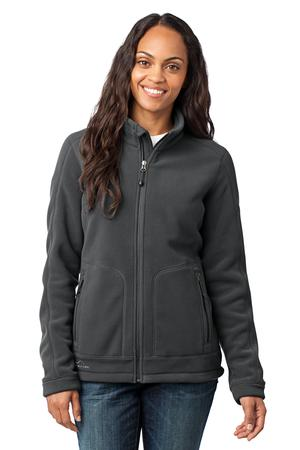 Eddie Bauer – Ladies Wind Resistant Full-Zip Fleece Jacket Style EB231 Iron Gate