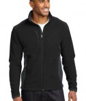 Eddie Bauer Full-Zip Sherpa Fleece Jacket Style EB232 Black/Grey Steel