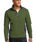Eddie Bauer Full-Zip Sherpa Fleece Jacket Style EB232 Evergreen/Grey Steel