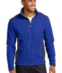 Eddie Bauer Full-Zip Sherpa Fleece Jacket Style EB232 Sapphire/Grey Steel