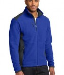 Eddie Bauer Full-Zip Sherpa Fleece Jacket Style EB232 Sapphire/Grey Steel Angle