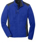 Eddie Bauer Full-Zip Sherpa Fleece Jacket Style EB232 Sapphire/Grey Steel Flat