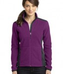 Eddie Bauer Ladies Full-Zip Sherpa Fleece Jacket Style EB233 Concord Purple/Grey Steel