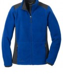 Eddie Bauer Ladies Full-Zip Sherpa Fleece Jacket Style EB233 Concord Sapphire/Grey Steel Flat