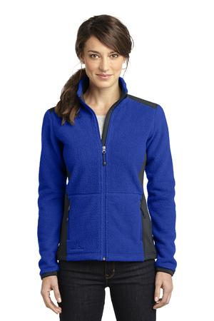 Eddie Bauer Ladies Full-Zip Sherpa Fleece Jacket Style EB233 Concord Sapphire/Grey Steel