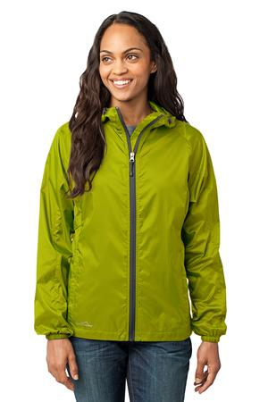 Eddie Bauer - Ladies Packable Wind Jacket Style EB501 Pear