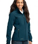 Eddie Bauer - Ladies Soft Shell Jacket Style EB531 Dark Adriatic Angle