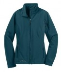 Eddie Bauer - Ladies Soft Shell Jacket Style EB531 Dark Adriatic Flat