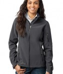 Eddie Bauer - Ladies Soft Shell Jacket Style EB531 Grey Steel