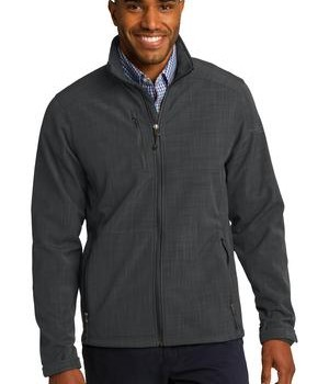 Eddie Bauer Shaded Crosshatch Soft Shell Jacket Style EB532 Grey