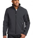 Eddie Bauer Rugged Ripstop Soft Shell Jacket Style EB534 Grey Steel/Black