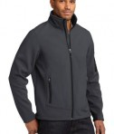 Eddie Bauer Rugged Ripstop Soft Shell Jacket Style EB534 Grey Steel/Black Angle