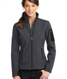 Eddie Bauer Ladies Rugged Ripstop Soft Shell Jacket Style EB535 Grey Steel/Black