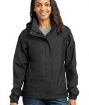 Eddie Bauer - Ladies Rain Jacket Style EB551 Black