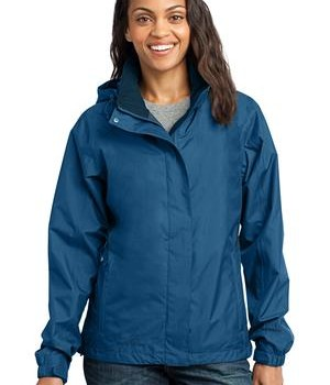 Eddie Bauer – Ladies Rain Jacket Style EB551 Deep Sea Blue