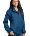 Eddie Bauer - Ladies Rain Jacket Style EB551 Deep Sea Blue Angle