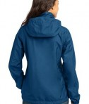 Eddie Bauer - Ladies Rain Jacket Style EB551 Deep Sea Blue Back