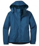 Eddie Bauer - Ladies Rain Jacket Style EB551 Deep Sea Blue Flat Front