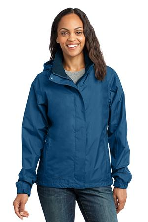 Eddie Bauer - Ladies Rain Jacket Style EB551 Deep Sea Blue
