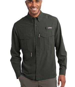 Eddie Bauer – Long Sleeve Performance Fishing Shirt Style EB600 Boulder