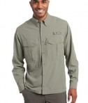 Eddie Bauer - Long Sleeve Performance Fishing Shirt Style EB600 Driftwood