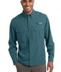 Eddie Bauer - Long Sleeve Performance Fishing Shirt Style EB600 Gulf Teal