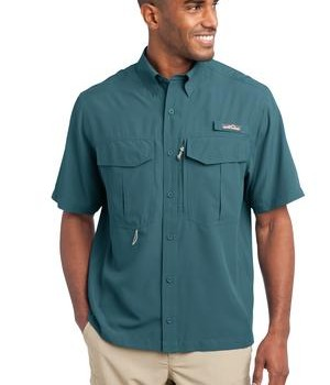Eddie Bauer – Short Sleeve Performance Fishing Shirt Style EB602 Gulf Teal