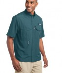 Eddie Bauer - Short Sleeve Performance Fishing Shirt Style EB602 Gulf Teal Angle