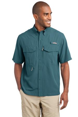 Eddie Bauer - Short Sleeve Performance Fishing Shirt Style EB602 Gulf Teal
