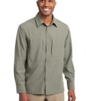 Eddie Bauer - Long Sleeve Performance Travel Shirt Style EB604 Driftwood