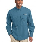 Eddie Bauer - Long Sleeve Fishing Shirt Style EB606 Blue Gill