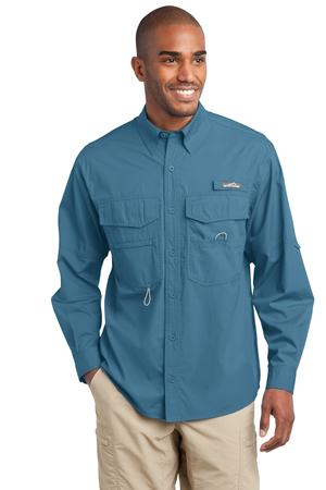 Eddie Bauer – Long Sleeve Fishing Shirt Style EB606 Blue Gill